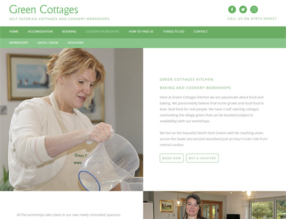 Green Cottages Kitchen